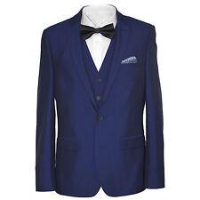 Harry Brown Blue Three Piece Slim Fit Suit 52694g0013
