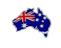 Patch australia australian backpack map souvenir flag iron on glue