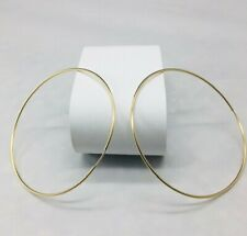 "Leslie Hoops - Large Gold FilledSize: 2.5"" Diameter Light Weight Earrings."