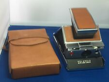 Polaroid SX-70 Land Camera avec véritable brun clair assorties en Cuir étui de transport