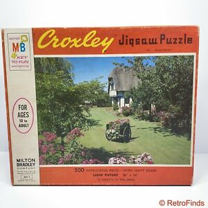 MB Milton Bradley Puzzle 500 Pieces Croxley Series 4611 Formal Garden New Sealed