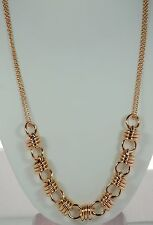 "Bronzo Italia 36"" Bold Polished Link Necklace"