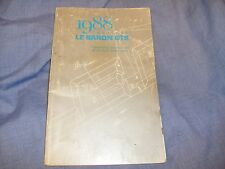 1988 Chrysler Lebaron GTS Owners Manual Operating Instructions Book - Used /f5