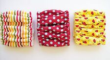 Male Dog Diapers XSMALL 3pk Ladybugs Stripes Belly Band Elastic Wrap 8 10 Tiny