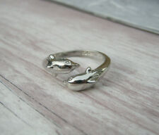Damas Mujeres Plata Brillante Diamante Cristal Stretch Toe//Pulgar//Anillo de Dedo Reino Unido