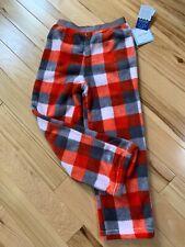Nwt Calvin Klein Plaid Fleece Sleep Pants Sz 5-6 Boy Soft & Warm Elastic Waist