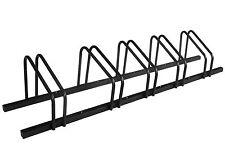 1 - 5 Bike Floor Parking Rack Storage Stand Bicycle Black