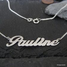 Namenskette mit Wunschname in 925er Silber, bis 9 Buchstaben, Länge: 44 cm, NEU