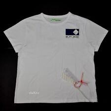 413f4ef83863 NWT Off-White Virgil Abloh EM PTY GALLERY Velvet Logo White T-Shirt XL