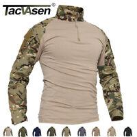 Anti-UV Hiking Shirt Mens Quick Dry Military Fishing Camping Shirts Tops Male
