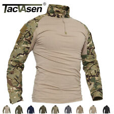 Men's 1/4 Zip Military Tactical Combat Shirts Moisture Wicking Army Shirt Tops