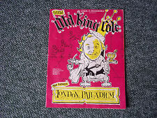 LITTLE OLD KING COLE - CHARLIE DRAKE - LONDON PALLADIUM - SOUVENIR PROGRAMME
