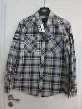 Harley-Davidson Herren Hemd Karohemd schwarz weiß Gr. M 96714-14VM NEU! SLIM FIT