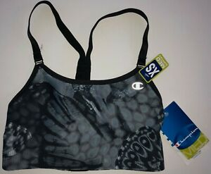 Champion Sports Bra Top Women's XS Black/Gray NEW WITH TAGS - FREE SHIPPING
