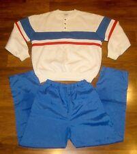 Vtg 80s BenHo COLOR BLOCK Medium Sweatshirt Top TRACK SUIT Jacket Coat Pants M