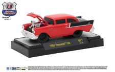 M2 Machines Ground Pounder Release 17 1957 Chevrolet 150 - Bright Red