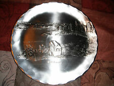 """Wendell August Forge Pittsburgh Full Size Plate 8-7/8"""" Stainless Clad 1980's"""