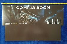 """Aliens: Colonial Marines """"Coming Soon"""" Store Display Video Game Promo Sign 2013"""