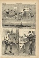 Dynamite Factory Hell Gate Mill Rock New York East River 1885 Harper's Weekly