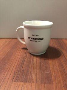 🔥Starbucks Coffee Mug 2007 Barista Abbey White 18 OZ Black Graphics Est 1971🔥