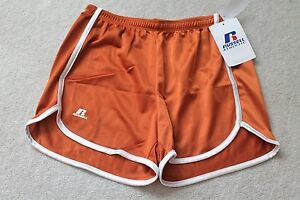 Russell Athletic Shorts Tx Orange/White Sz S 100% Polyester Buy Now: $9.99