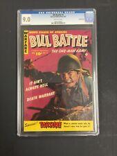 Bill Battle #4 CGC 9.0 fawcett publications 1953 GOLDEN AGE war cover CROWLEY