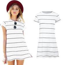 Unbranded Plus Size Striped Short/Mini Dresses for Women
