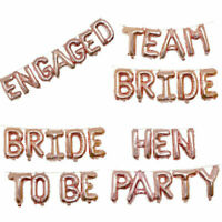 "16"" ROSE GOLD TEAM BRIDE HEN PARTY FOIL BALLOONS WEDDING DECORATION SASHES"
