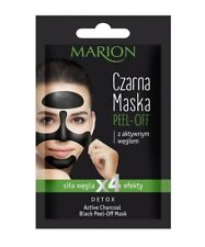 Marion BLACK PEEL-OFF FACE MASK Blackhead Remover Deep Skin Clean Charcoal DETOX