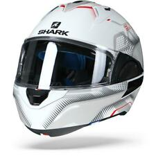 Shark Evo-One 2 Keenser White Silver Red WSR Flip Up Motorcycle Helmet