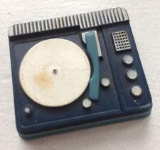 VTG BARBIE SKIPPER BLUE PHONOGRAPH~RECORD PLAYER~PLATTER PARTY~DANCING DOLL