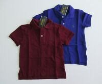 NWT Ralph Lauren Boys Short Sleeve Classic Solid Mesh Polo Shirt Sz 5 6 7 NEW