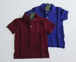 NWT Ralph Lauren Boys Short Sleeve Classic Solid Mesh Polo Shirt Sz 5 6 7 NEW