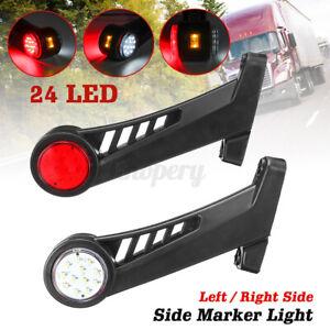 1pc 12-24V 24 LED Side Marker Light Outline Stalk Lamp For Trailer Truck Van