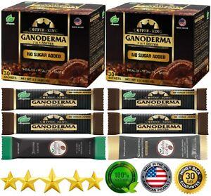 PureGano Black Ganoderma Reishi Coffee 2 Boxes 66 Sachet BONUS Slim & Defender
