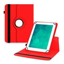 Universal Tasche für 10 10.1 Zoll Tablet 360° Schutzhülle Case Cover Rot