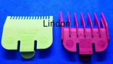 WAHL Clipper Guard Attachment Combs - Size 0.5 (Lime Green)  + Size 1.5(Plum)😲