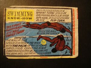 ANGLO AMERICAN CHEWING GUM BELL BOY BAZOOKA  WAX WRAPPER SWIMMING KNOW HOW No31