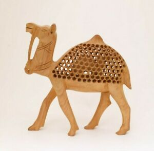 8 Inches Handmade Camel Statue Figurine Hand-Carved Wooden Home Decoration Gift