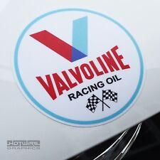 PAIR (X2) 70's Retro Car Stickers USA VALVOLINE OIL decals - Waterproof Vinyls