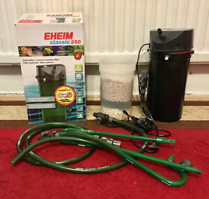 EHEIM classic 250 Plus External Aquarium Filter 2213 with media good condition