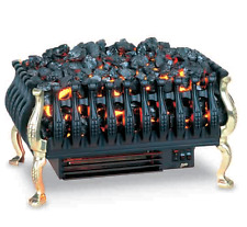 Electric fire Basket Black with Flicker Coal Effect with Brass legs.