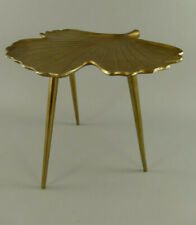 Medium-Sized Side Table - Flowers Stool Brass Colours 107.201
