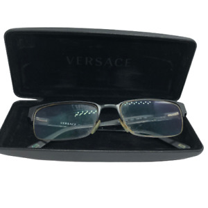 Versace 1184 1261 53-18/140 Black Designer Rectangular Eyeglass Frames - FLAWS