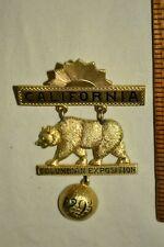 1893 Antique CALIFORNIA Delegate WORLD FAIR Columbian Exposition PIN Pasquale