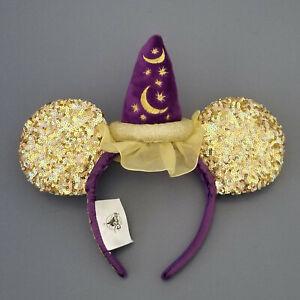 Disney Parks Sorcerer Mickey Magic Happens Sequined Ear Headband