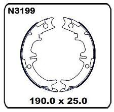For Toyota Kluger GSU4# 5/2007 onwards REAR Handbrake shoe SET N3199