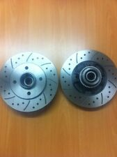 Renault Clio 172 182 Rear MTEC Drilled Grooved Brake Discs Bearing and ABS Ring