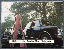 AUSTIN MINI Clubman Sales Brochure c1970 #2705 BELGIAN
