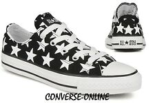 Boy Girl CONVERSE All REPEAT BIG STAR LO Black White Trainers Shoe 35. UK SIZE 3